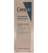 CeraVe Therapeutic Hand Cream Normal to Dry 3 oz Fragrance Free New EXP 09/17 +