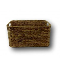GAIA Rectangular Water Hyacinth Basket with Beveled Edges Choose Your Size New HOME 10009 (BRB0004-NA-S/4)