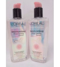 LOreal  Haircare Smooth Intense Frizz Taming Serum 3.4 oz LOT OF 2 Exp 09/17 +