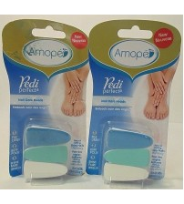 Amope Nail Care System Pedi Perfect Replacement Nail Care Heads LOT of 2 New