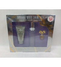 Brilliant White Diamonds by Elizabeth Taylor Collection Gift Set For Women New