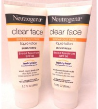 Neutrogena Clear Face Liquid Lotion Break Out Free SPF 30 Lot of 2 Exp 10/17