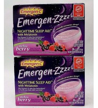 Emergen C Emergen Zzzz Sleep Aid MELLOW BERRY 24 Packets Exp 10/17 + LOT OF 2