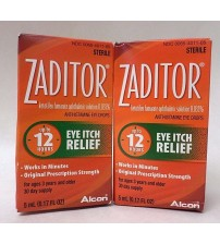 Zaditor Antihistamine Eye Drops Eye Itch Relief 5mL Exp 01/18 + SEALED LOT OF 2