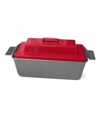 Chef Tony Miracle Meatloaf Pan With Center Mold And Lid Carbon Steel