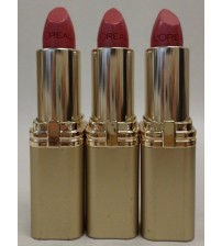 Loreal Colour Riche Lipstick *Peony Pink* with Argan Oil LOT OF 3 EXP 04/18