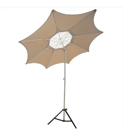 Abba Patio 7-1/2-Ft Fiberglass Rib Beach Patio Umbrella with 2 Sand Anchors, Tan