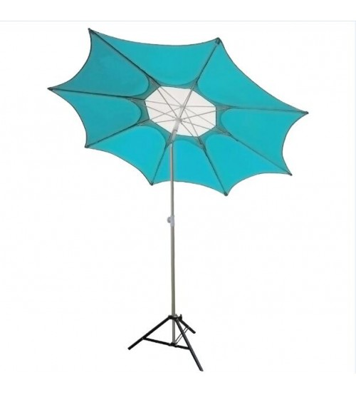 Abba Patio 7-1/2-Ft Fiberglass Rib Beach Patio Umbrella with 2 Sand Anchors, Turquoise
