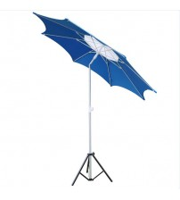 Abba Patio 7-1/2-Ft Fiberglass Rib Beach Patio Umbrella with 2 Sand Anchors, Pacific Blue
