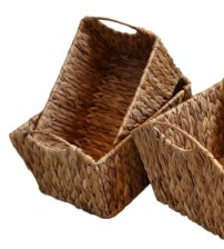 GAIA Water Hyacinth Woven Storage Baskets With Handles Choose from Small, Medium, Large or X Large