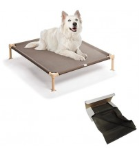 Medium Brown Dog Bed / Cot with Bonus Extra Cot Included
