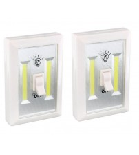 Diamond Visions Cob LED Night Light with Switch White Set of 2 Switches
