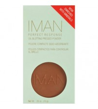 IMAN Perfect Response Oil Blotting Pressed Powder, Medium Deep 0.4 oz.