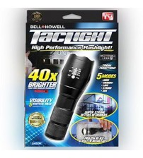 Taclight High-Powered Tactical Flashlight with 5 Modes & Zoom Function