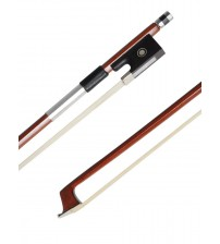 ADM Well Balanced Brazilwood Violin Bow with Wood Stick, Horsehair, Ebony Frog with Pearl Eye and Pearl Slide, Nickel Silver Mounted BL12-34