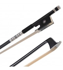 ADM® Selected 4/4 Full Size Carbon-fiber Violin Bow with Natural Horsehair,  Well-balanced Standard for 4/4 Full Size Violin- Black Finish