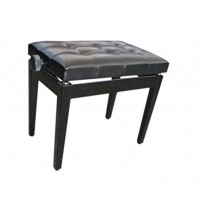 ADM Ebony Ajustable Deluxe Padded Piano Bench, Black