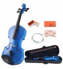 ADM® Handcrafted Solid Wood Student Violin 4/4 Full Size with Starter Kits, Blue