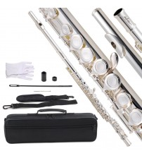 ADM Silver Plated Closed Hole C Flute Kit with offset G key and split E key