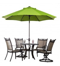 Abba Patio® 9 Ft Market Aluminum Umbrella with Auto Tilt and Crank, Sunbrella,Lime Green