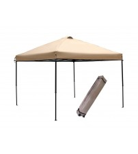 Abba Patio® Khaki 10x10-Feet Outdoor Portable Pop Up Canopy Tent with Roller Bag, Oxford fabric, Beige