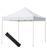 Abba Patio 10 X 10 ft Outdoor Pop Up Portable Shelter Instant Folding Canopy with Roller Bag, White