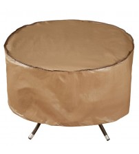 Abba Patio Outdoor Patio Round Fire Pit Cover/Table Cover, 40-inch, Water Resistant, Brown