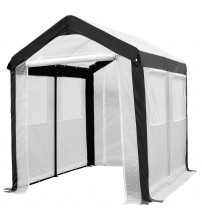Abba Patio Large Walk in Fully Enclosed Lawn and Garden Greenhouse with Windows, 6 x 8 ft , White