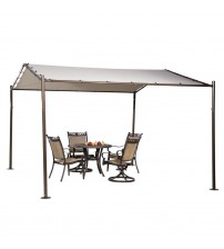 Abba Patio Portable Outdoor Canopy Garden Gazebo, 13 x 11.5-Feet, Beige