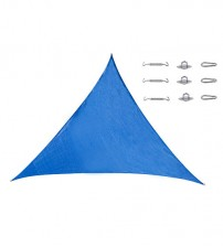 Cool Area Triangle Oversized 16 Feet 5 Inches Sun Shade Sail with Stainless Steel Hardware Kit,Perfect for Outdoor Patio Garden Swimming Pool In Color Blue