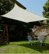 Cool Area Square Oversized 16 Feet 5 Inches Sun Shade Sail with Stainless Steel Hardware Kit,Perfect for Outdoor Patio Garden Swimming Pool In Color Cream