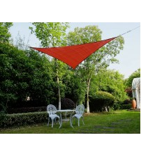 "Cool Area Right Triangle Oversized 16'5"" X 16'5"" X 22'11"" Sun Shade Sail Including Stainless steel Hardware Kit For Outdoor Patio Garden Swimming Pool in Color Terra"