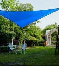 "Cool Area Right Triangle Oversized 16'5"" X 16'5"" X 22'11"" Sun Shade Sail Including Stainless steel Hardware Kit For Outdoor Patio Garden Swimming Pool in Color Blue"