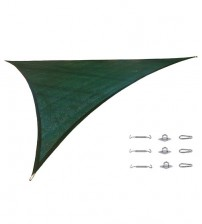 "Cool Area Right Triangle Oversized 16'5"" X 16'5"" X 22'11"" Sun Shade Sail Including Stainless steel Hardware Kit For Outdoor Patio Garden Swimming Pool in Color Green"