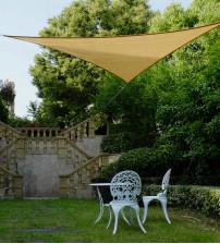 "Cool Area Right Triangle Oversized 16'5"" X 16'5"" X 22'11"" Sun Shade Sail Including Stainless steel Hardware Kit For Outdoor Patio Garden Swimming Pool in Color Sand"