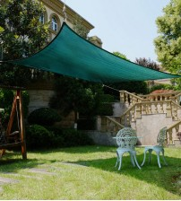 "Cool Area Rectangle Oversized 13' X 19'8"" Sun Shade Sail with Stainless Steel Hardware Kit,Perfect For Outdoor Patio Garden Swimming Pool In Color Green"