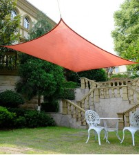 "Cool Area Rectangle Oversized 13' X 19'8"" Sun Shade Sail with Stainless Steel Hardware Kit,Perfect For Outdoor Patio Garden Swimming Pool In Color Terra"