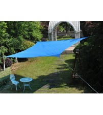 Cool Area Square Oversized 16 Feet 5 Inches Sun Shade Sail, UV Block Patio Sail Perfect for Outdoor Patio Garden Swimming Pool in Color Blue