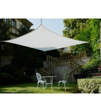 Cool Area Square Oversized 16 Feet 5 Inches Sun Shade Sail, UV Block Patio Sail Perfect for Outdoor Patio Garden Swimming Pool in Color White