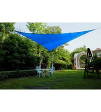 Cool Area Right Triangle 16'5'' Sun Shade Sail for Patio in Color Blue