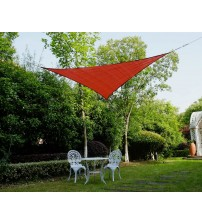 Cool Area Right Triangle 16'5'' Sun Shade Sail for Patio in Color Terra