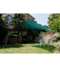 Cool Area Rectangle 9'10'' X 13' Sun Shade Sail, UV Block Patio Sail Perfect For Outdoor Patio Garden Swimming Pool in Color Green