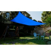 Cool Area Rectangle 13' X 19'8'' Sun Shade Sail for Patio in Color Blue