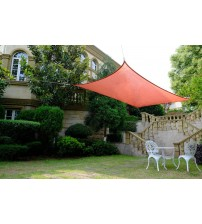 Cool Area Rectangle 13' X 19'8'' Sun Shade Sail for Patio in Color Terra