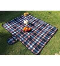 HS Extra Large Picnic And Outdoor Water Resistant Blanket, Blue Plaid