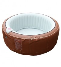 Homax 264 gallons inflatable spa 6-person Include accessories round portable hot tub spa