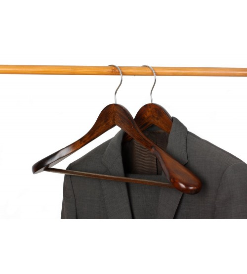 J s hanger gugertree wooden extra wide shoulder suit for What to do with extra clothes hangers
