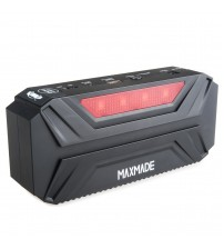 MAXMADE® 600A Peak Current Jump Starter 15000mAh Ultra Bright Red Emergency Lighting and LED Flashlight with Strobe and SOS Modes Jump Start Your Car 20 Times at Full Charge 5V/2.1A USB Output