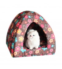 Favorite Brown Pyramid Cat Bed+Free Shipping