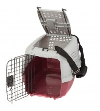 "Favorite Portable Two Door Pet Carrier 23""x15.5""x13.6"", Free Strap, Red - PET090301302"